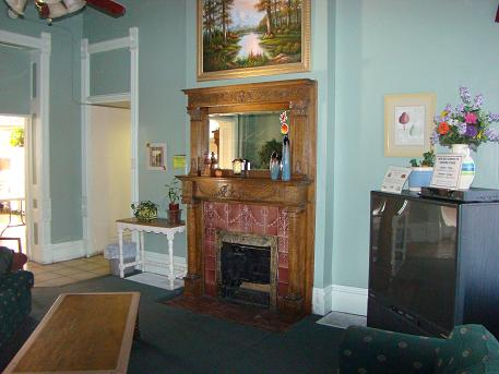 The Recently Restored Fireplace in Our TV Room