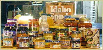 Food like this donated to the Utah Food Bank finds its way to The John Taylor House.